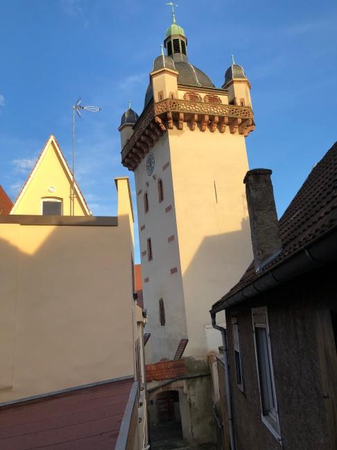 Vue sur la tour de l'horloge