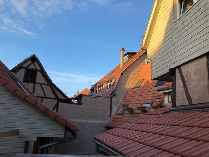 Vue sur les toits Alsaciens