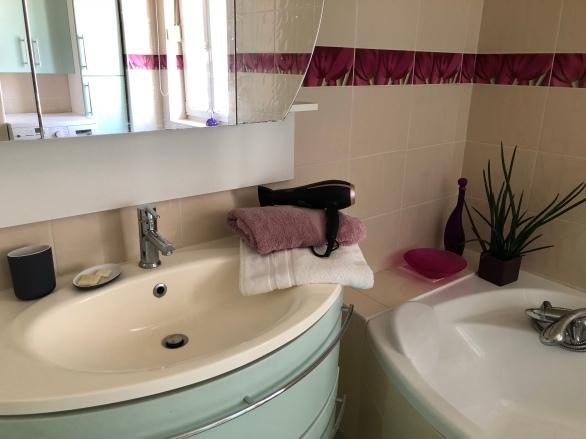Sèche cheveux et linge de toilette